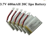 5x 3.7V 20C 600mah walkera li-po battery 4G6 4G3 CB100