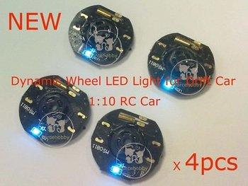 RC Car Dynamic Wheel LED Light for Drift Car (4pcs)