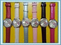 New Hello Kitty Girls Lady Quartz Steel Wrist Watch