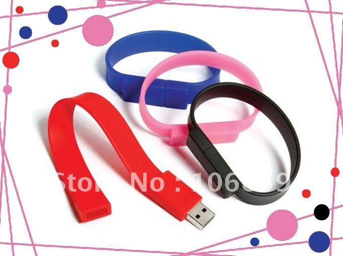 Hotselling 8GB Usb Flash Memory/drive/disk/stick bracelet style 50pcs/lot free Shipping(China (Mainland))