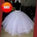 free shipping, 6 layers organza white no rims ball gown Petticoats / Wedding dress Petticoat / Bridal Petticoat / Crinoline
