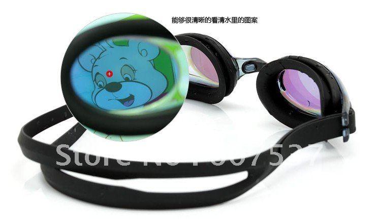 2012 new Plain/myopia goggles Prevent fog goggles swimming goggles unisex yc002 free shipping 10PCS(China (Mainland))