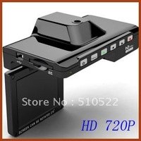 "2.7"" TFT LCD  Car DVR  With HD 720P 30FPS  Free Shipping K4000"