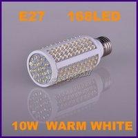 Guaranteed New 100% 1Pcs Warm White 10W AC 110V/220V 168 LEDs E27/E14/B22 Bases LED Light Corn Bulb Lamp with Free Shipping Cost