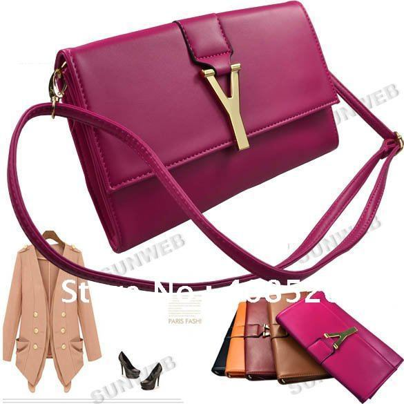 Women Fashion Clutch Classic Shoulder Bag Handbag Quilting Chain Cross Wholesale 3105
