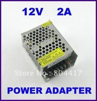 Free Shipping New 100%  High Quality  1Pcs AC 110V 220V Power supply adapter Charger DC 12V 2A+Wholesale