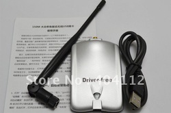 Free dhl/ups shipping! Latest Driver Free N96000 wifi wireless adapter rt3070 with 7DB antenna 150Mbps network card(China (Mainland))