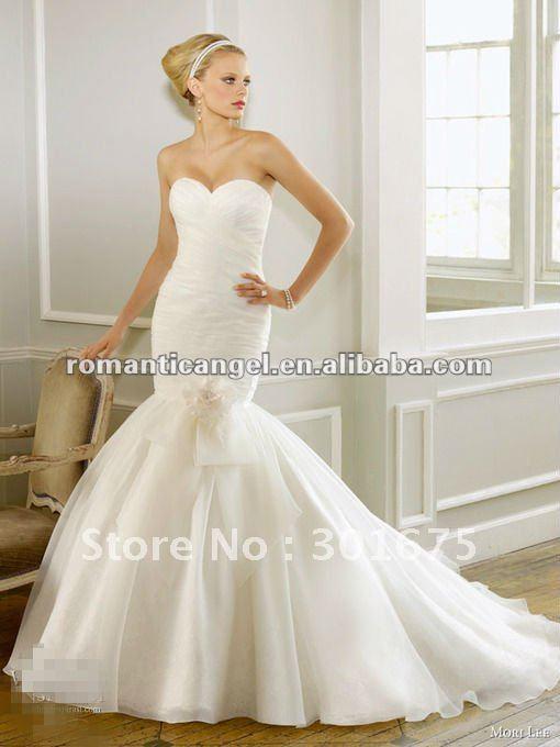 Sheath Wedding Gown Pattern : Sheath white mermaid wedding dress patterns china mainland
