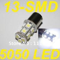 Freeshipping 1156 13 LED 5050 1156 1073 7527 BA15S LED White Light Bulb