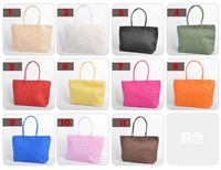 Free shipping 2012 Hot selling summer lady's beach bag women straw handbag hobos 15colors wholesale