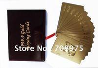 Direct manufacturers2012TM-888 gold foil gold foil poker advertising poker set, custom
