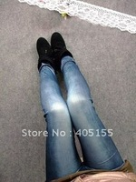Fashion Lady Copy Cowboy Legging Stretch Skinny Leggings Jegging Pencil Pants