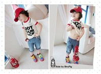 Freeshipping retail and wholesale 100% cotton 2011 hot new Corea style baby t-shirt,casual clothing,t-shirt,kid&#39;s t-shirt