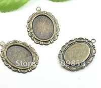 free shipping!!! 100pcs/lot 13*18mm pad pendnat setting tray cabochon setting jewelry findings