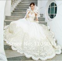 2012 new Korean Bra luxury lace long tail wedding dress+ +60