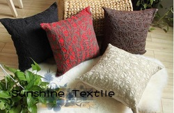 Free Shipping Fashion Hand made Embroidery pillow cover cushion cover 4colorways 4pcs/lot Wholesale(China (Mainland))