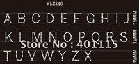 WLE246  Letter & numbers rhinestone transfer