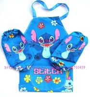 12Set Children Lilo & Stitch  Aprons Sleeves Set Free Shipping