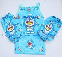 12Set Children doraemon Aprons Sleeves Set Free Shipping