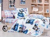 Hot Fashion New  Beautiful 100% Cotton 4pc Doona Duvet QUILT Cover Set bedding set Queen/  King size Baby panda