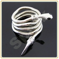 35.44' Multiple Use Flexible Snake Necklace Silver Plated Bendy Snake Min $10 Can Mix Free Shipping