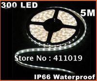Hot sales !! Cold White IP66 Waterproof 5M SMD 3528 300 LED Strip Light 3pcs/lot
