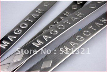 Stainless steel Door sill scuff plate for vw Volkswagen Magotan  B6