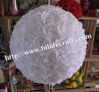70cm white foam center  kissing wedding decoration artificial flower ball