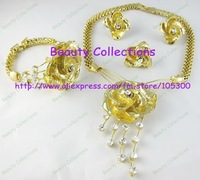 NEWEST DESIGN HOT SALE!!!Jewelry sets for wholesale and retail gold plated 4 sets custom jewelry with free shipping--JE530