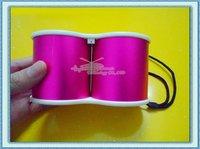 Free Shipping 5Pcs/Lot Mini Telescope MP3 Stereo Speaker Box With TF Card Slot USB Interface FM Radio