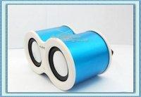 Free Shipping 10Pcs/Lot Mini Telescope MP3 Stereo Speaker Box With TF Card Slot USB Interface FM Radio