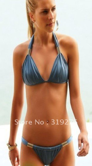 ... quality free shipping wholesale Blue color sexy bikini, adult swimwear