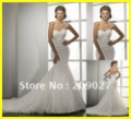 2012 New Gorgeous Sweetheart Appliques Mermaid Tulle Long Bridal Gown Wedding Dresses
