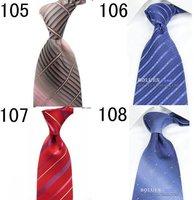 New Classic Plain Satin Finish JACQUARD WOVEN Silk Men's Tie Necktie