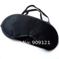 100Pcs/Lot Eye Mask Cover With Elastic Bands Shade Blindfold Sleeping Travel Black