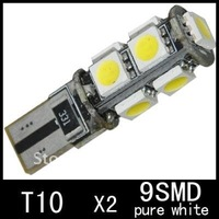 Freeshipping 24months warranty T10 9SMD 5050 side light 194 168 192 W5W LED Light Auto Bulbs Lamp Wedge Interior Light