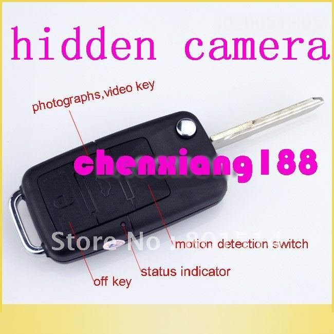 free shipping Mini DVR 1280 *960 Car Key Hidden Camera 30fps With Motion Detection 20pcs/lot(China (Mainland))