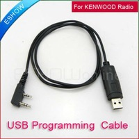 J0012A 2 Pin USB Programming Cable for KENWOOD TK3207 TK-3107 H777 BF-888S Eshow