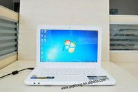 4g/640G 13.3 inch Ultra thin Cheap laptop computer Intel atom d425 or d2500 1.8 netbook windows 7 notebook pc