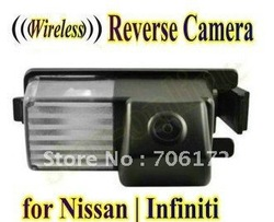 Wireless Car Rear View Camera reverse backup parking camera for Nissan Versa Pulsar Cube 350Z 370Z GT-R Infiniti G35 G37(China (Mainland))