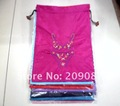 FREE SHIPPING! 60 pcs/lot CHINESE HANDMADE CLOTH bra EMBROIDERY SILK SHOE BAGS