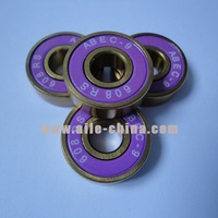 Free shipping chrome steel 608 bearing, high quality titanium plated, ABEC 9 ball bearing for scooter