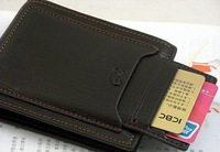 Men's leather wallet, purse,black colour, coffee colour, fashion style, wholesale from 10pcs, can mixed order