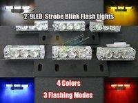Free Shipping!! 2*9 18 LED Warning Blinking Strobe Flash Lights/Lightbars for Deck Dash Grille LED EMERGENCY STROBE LIGHTS