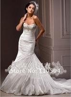 The glistening hand-set beads Swarovski crystal wedding beaded fishtail skirt wedding+ +95