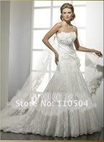 Flowers, lace, lace wedding dress Slim Line A+ +109