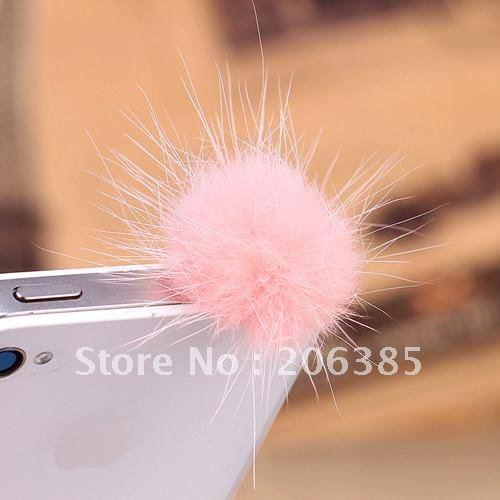 Lot of 20 Cute ear cap for iPhone 4s dustproof Plug,minipol ear cap, Mix Color, Free Shipping ~(China (Mainland))