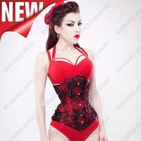 Free Shipping! Custom Three Layer Fashion Body Slimming  Red Medical Corset