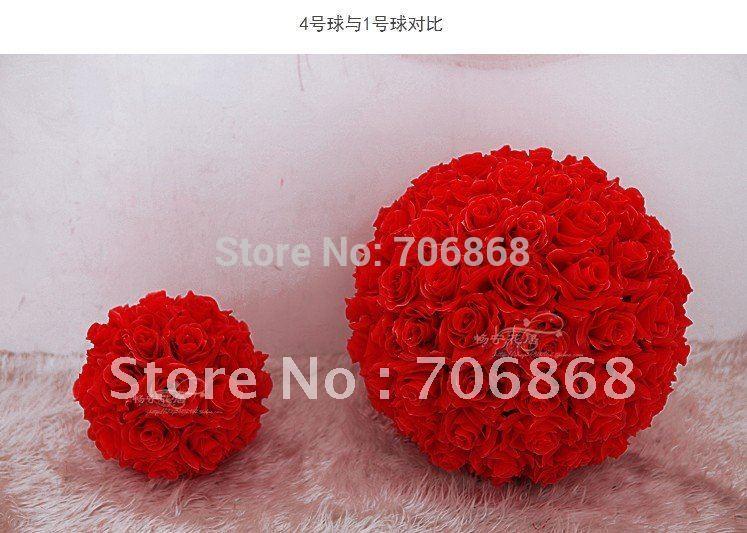12'' Artificial silk kissing roses flower ball 1(China (Mainland))