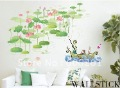 Removable Affective Pond Living room Decorative Wall Stickers,PVC Bedroom/Background Sticker(50*35cm)--Free Shipping